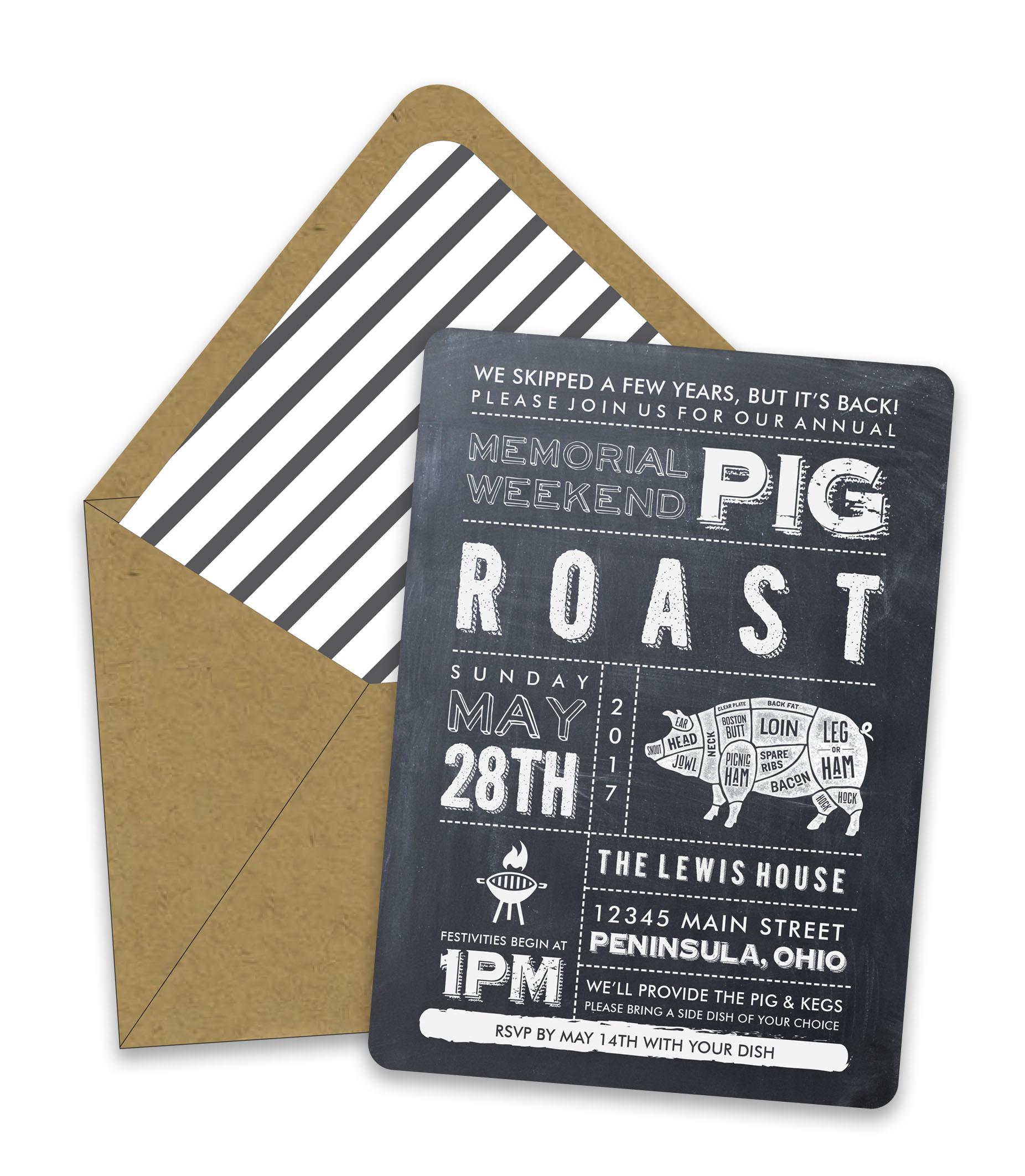 Pig Roast Invitation Foreword Press Design