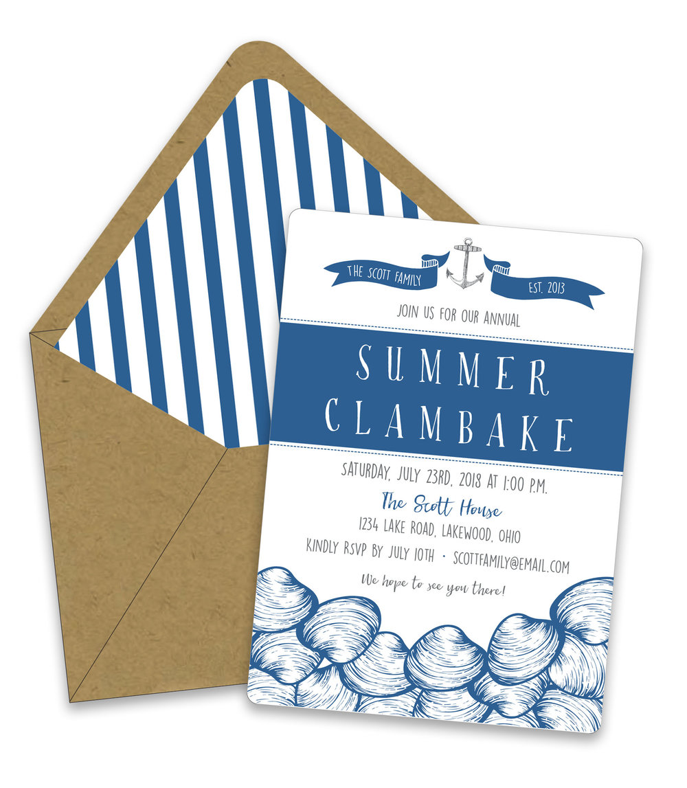 Clam Bake Invitation