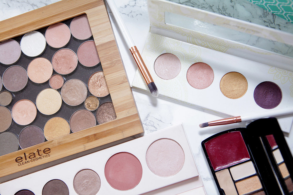 natural green beauty eyeshadow palettes