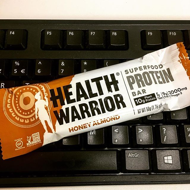 Don't allow work day stress to kill your instinct to thrive. Be healthy. Be a warrior! @healthwarrior available in Feb boxes GET YOURS NOW! #healthy #paleo #glutenfree #junkfreefood #snacks #proteinbar #fitness #warrior #travel #superfood #plantprotein  #nongmo
