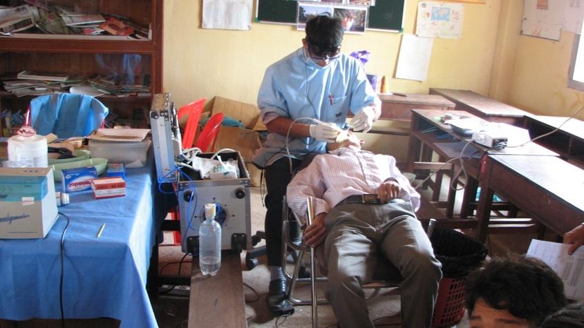 A teacher's dental exam