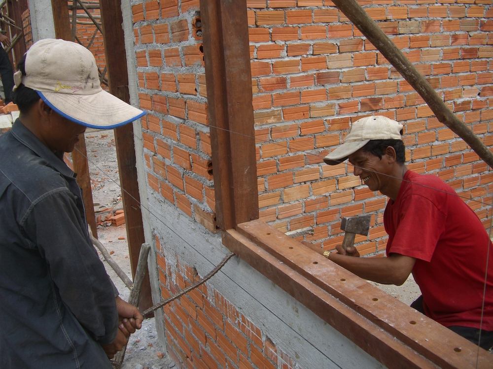 Building the school, 2007