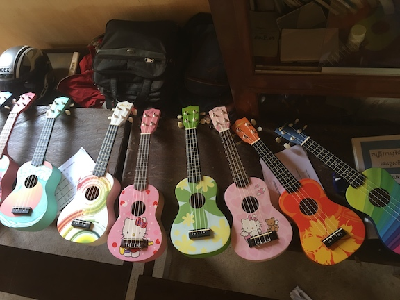 Mira raised funds for these ukes