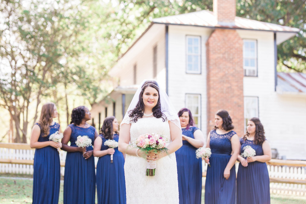 Bridesmaids at the West Point on the Eno in Durham, NC