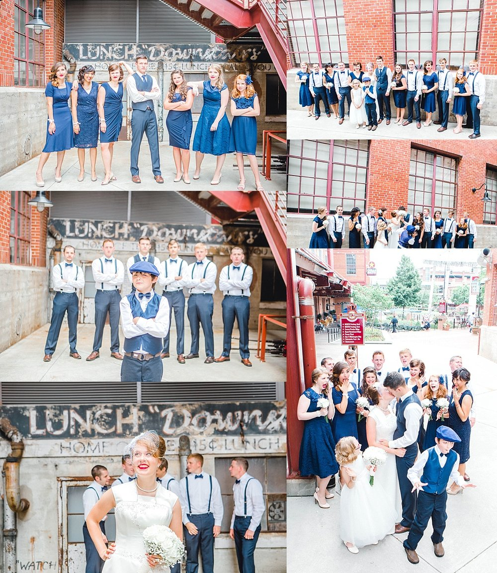 A classic, vintage themed navy wedding.