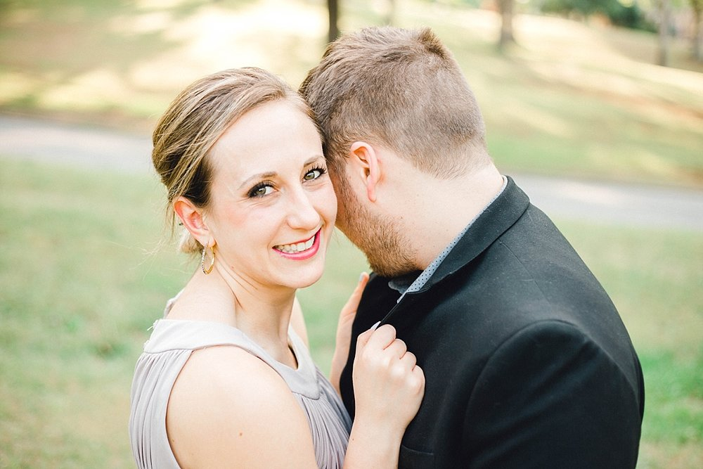 A happy couple at Dorothea Dix Park in Raleigh, NC