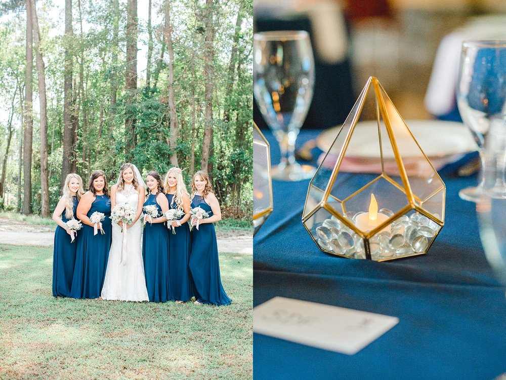 Geometric Wedding lantern centerpiece