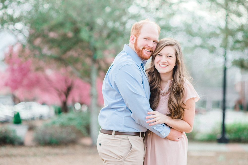 A springtime engagement session in Hartsville, South Carolina.