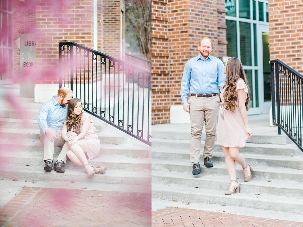 An engagement session at Coker College.