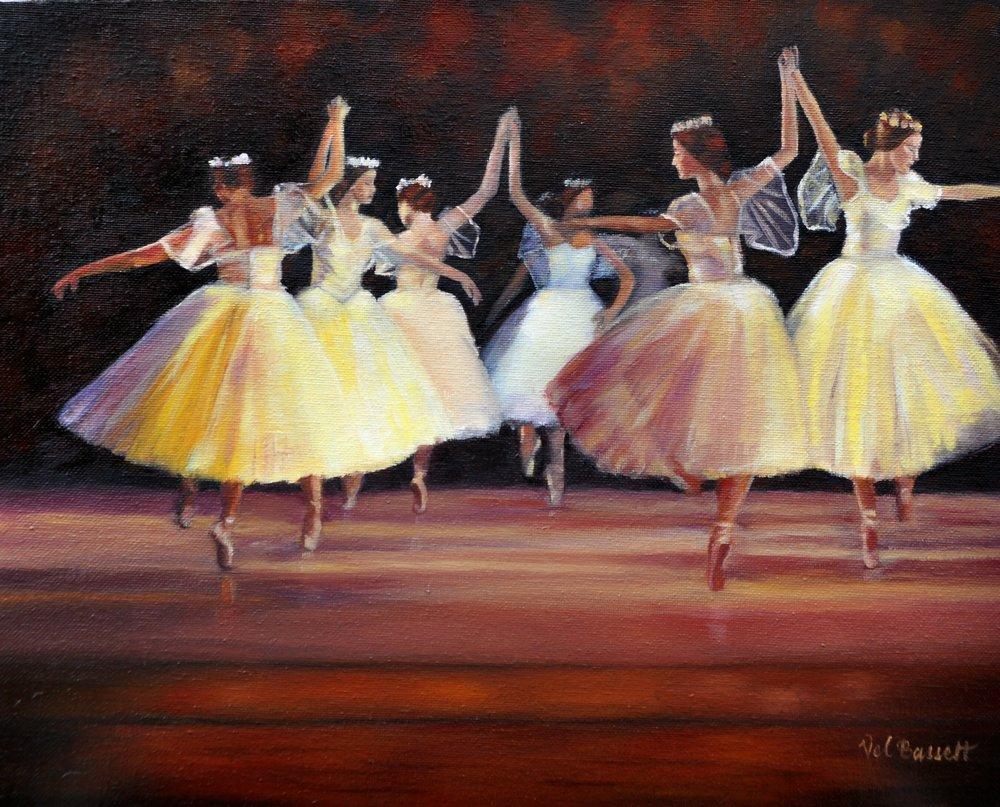 Ballet Dancers by Valerie Bassett