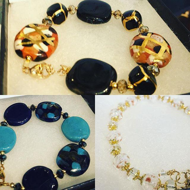 New bracelets from Eileen Krol of Krol Kreations! 💎💙 #venetianglass #venetianglassbeads  #handmadebracelets