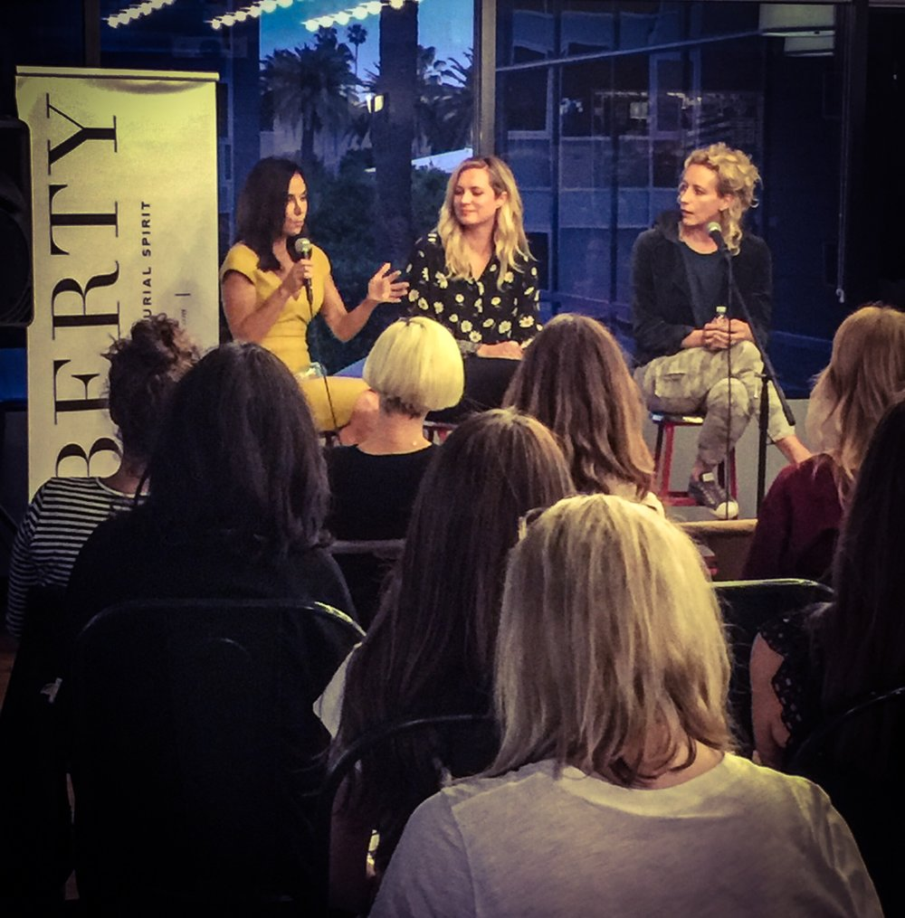"Recent panel discussion and podcast in Santa Monica with Nada Jones @Libertyforher Click on the link below for the full interview on why and how I wrote ""Waking Mathilda--A Memoir Of Childhood Narcolepsy."""