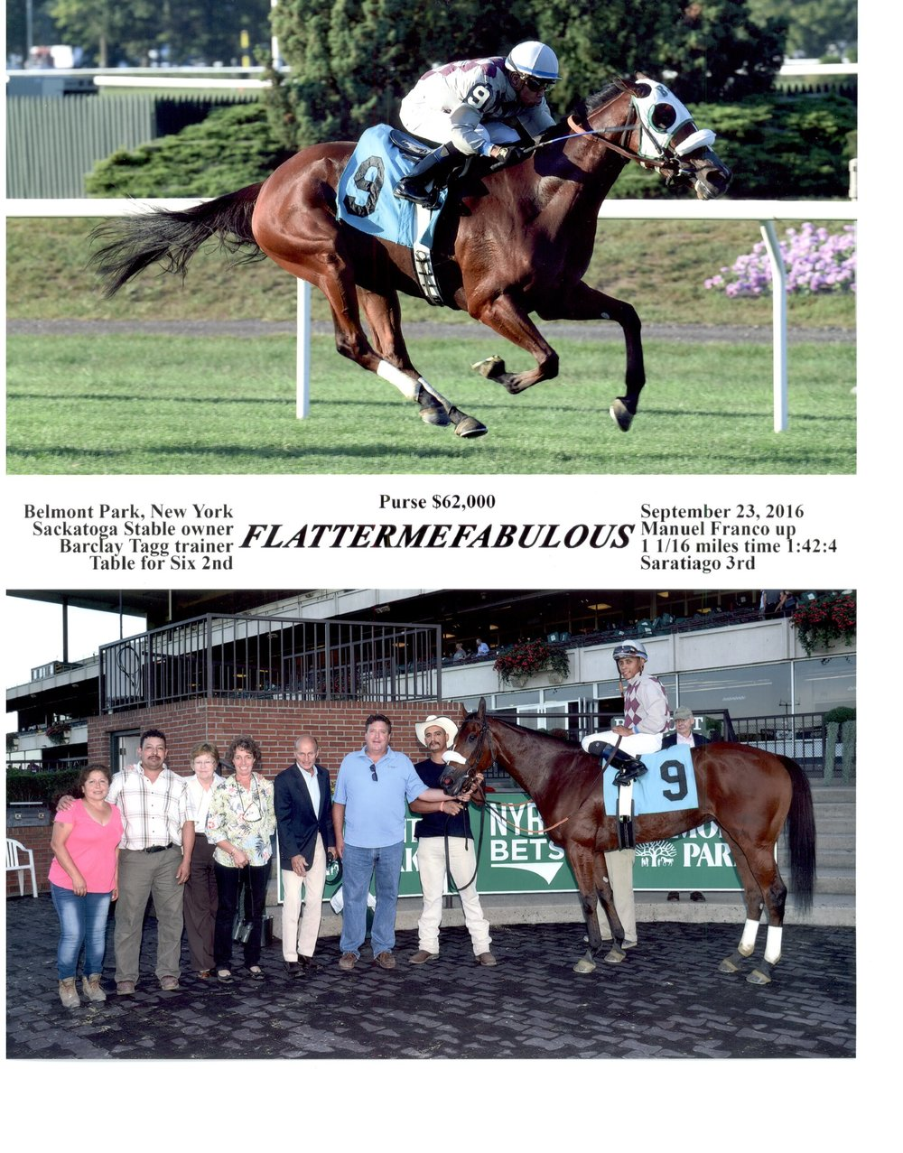 9-23-2016 - Flattermefabulous Winning Photo - Belmont Park.jpg