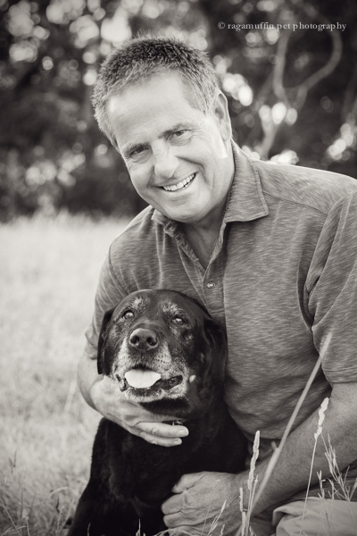 pet photographer in Melbourne - Man with his old dog
