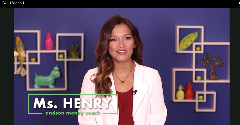 - Andson Money coach Ms. Henry brings vibrancy to financial literacy in engaging and interactive video lessons. She covers lesson topics, in-class activities, and even how to complete homework assignments!