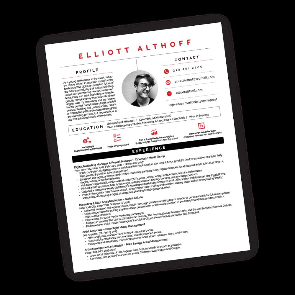 Elliott Althoff Resume
