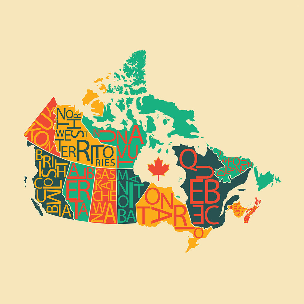 Canada (2014)  - Digital Illustration of Canada created using Adobe Illustrator