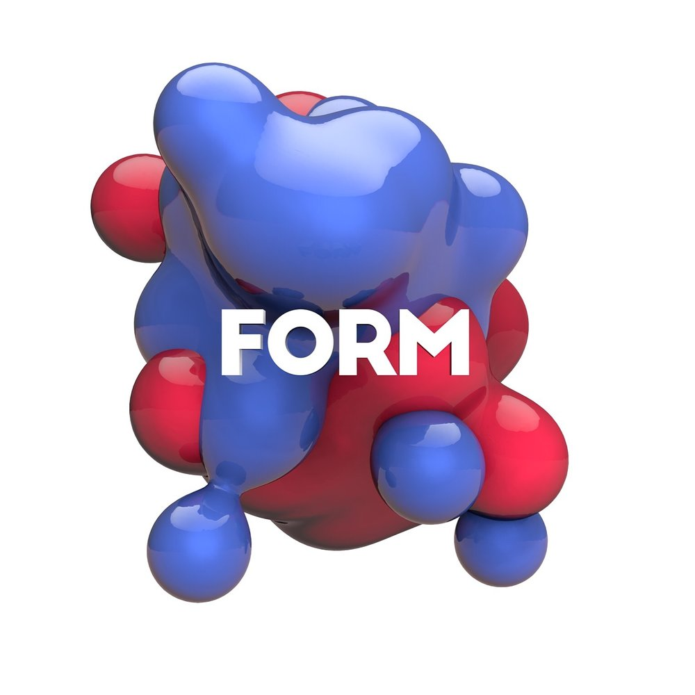 FORM (2016)  - A two day fictional art installation event for creatives to come together and collaborate. This 3D model is a still frame of motion graphic created from the college project.
