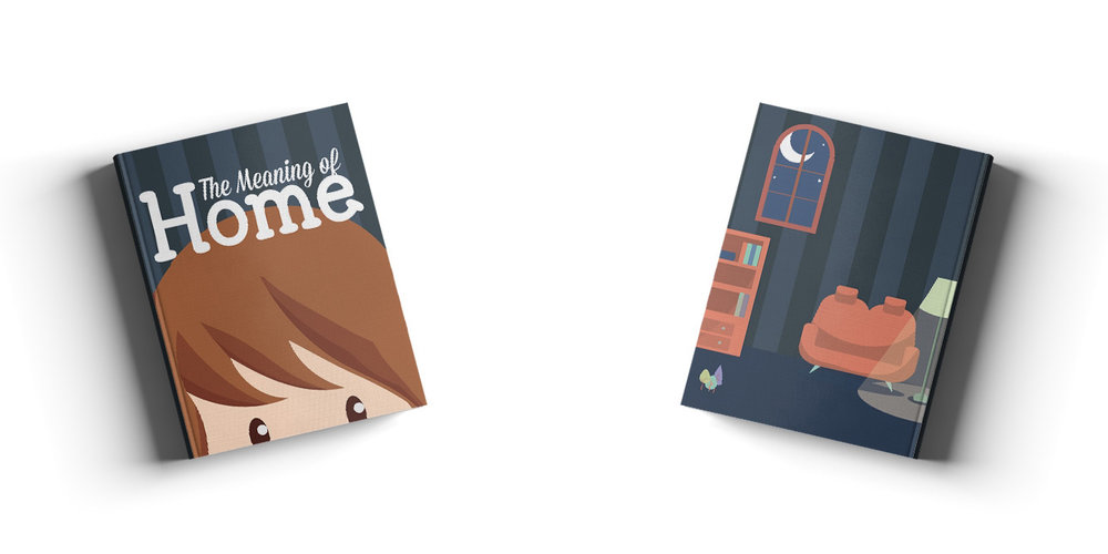 "The Meaning of Home (2015)  - Front and Back cover concepts designed for ""Meaning of Home Book""."