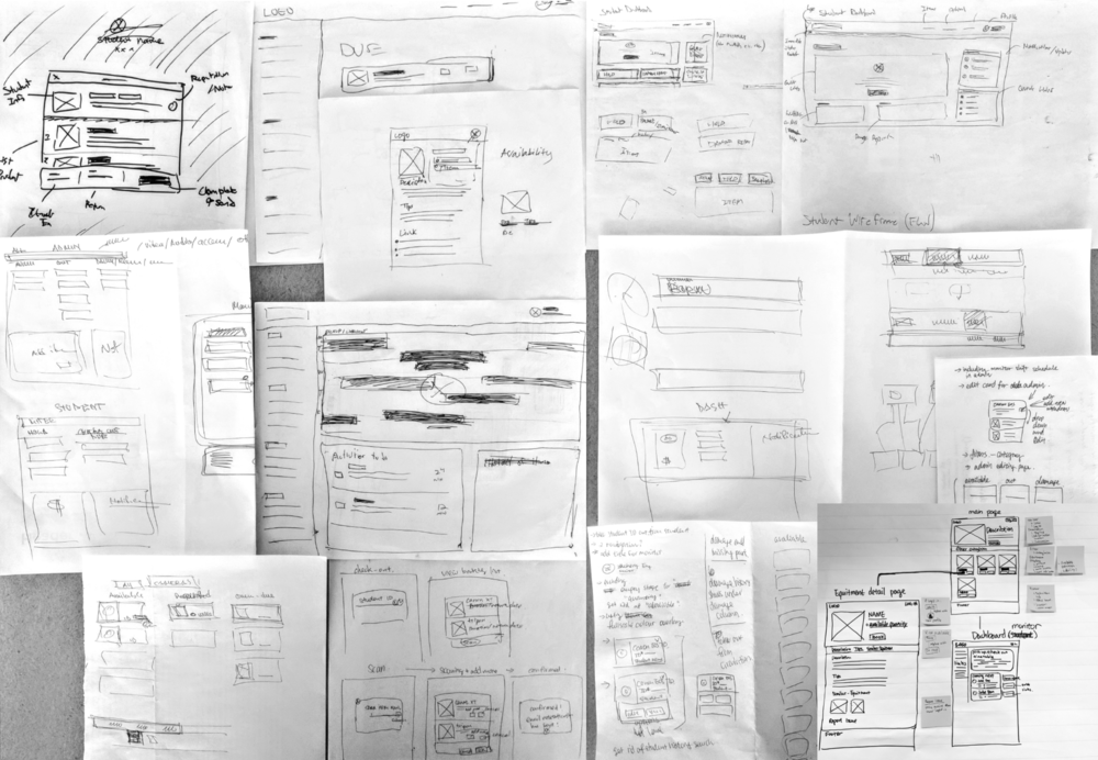 Early sketches to plan out the interface