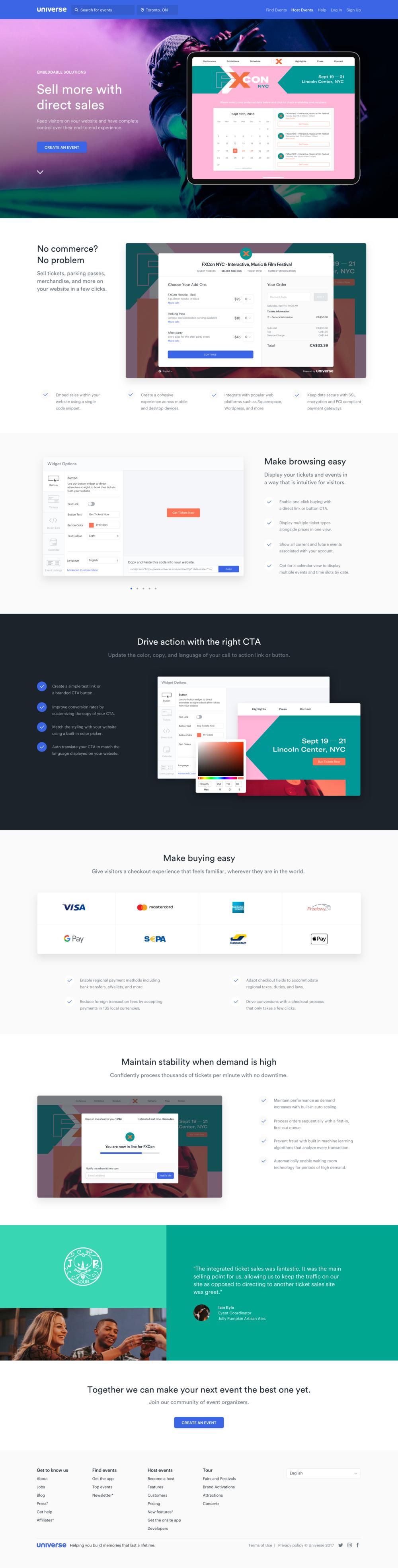 Widgets Page - Landing Page Design