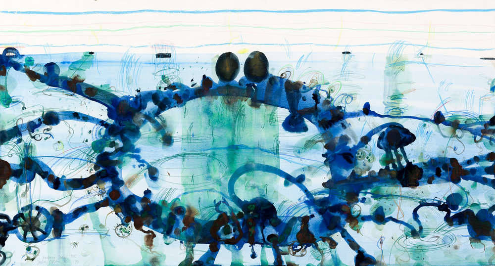 John Olsen, Harbour Tidal Pool, 1993, digitised for Menzies Art Brands.