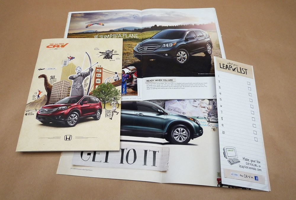 Brochure at the dealerships