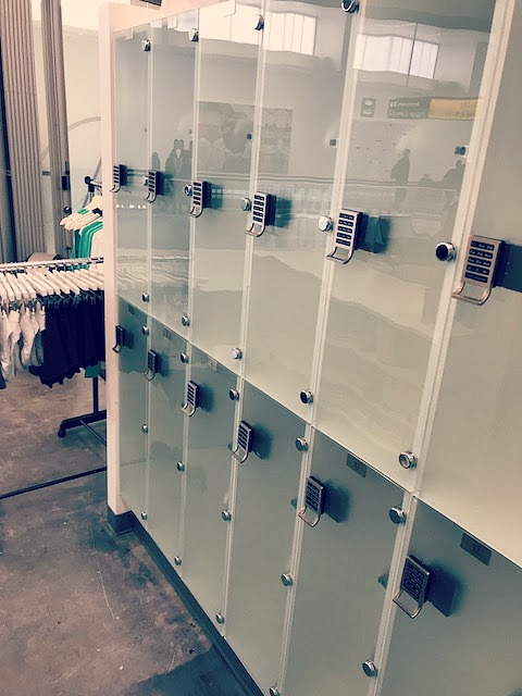 Lockers available to all who use.