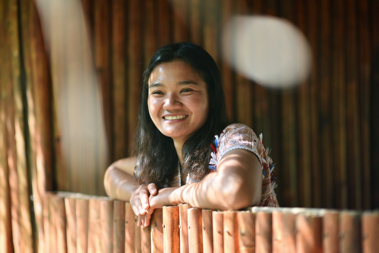 Golo in a bamboo Karen house