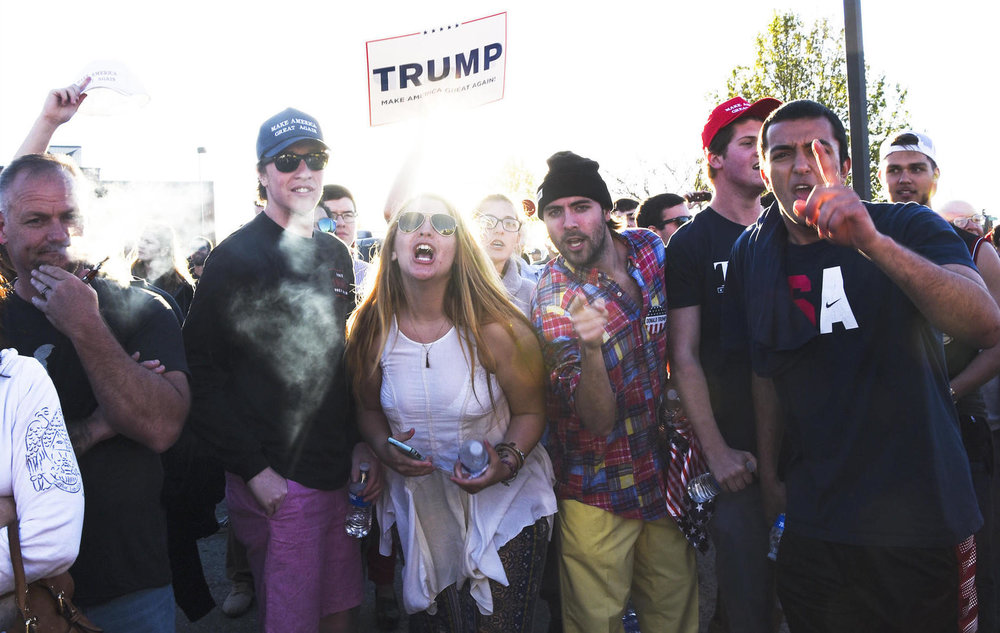 Trump supporters in Berlin, MD (Photograph by J.M. Giordano)