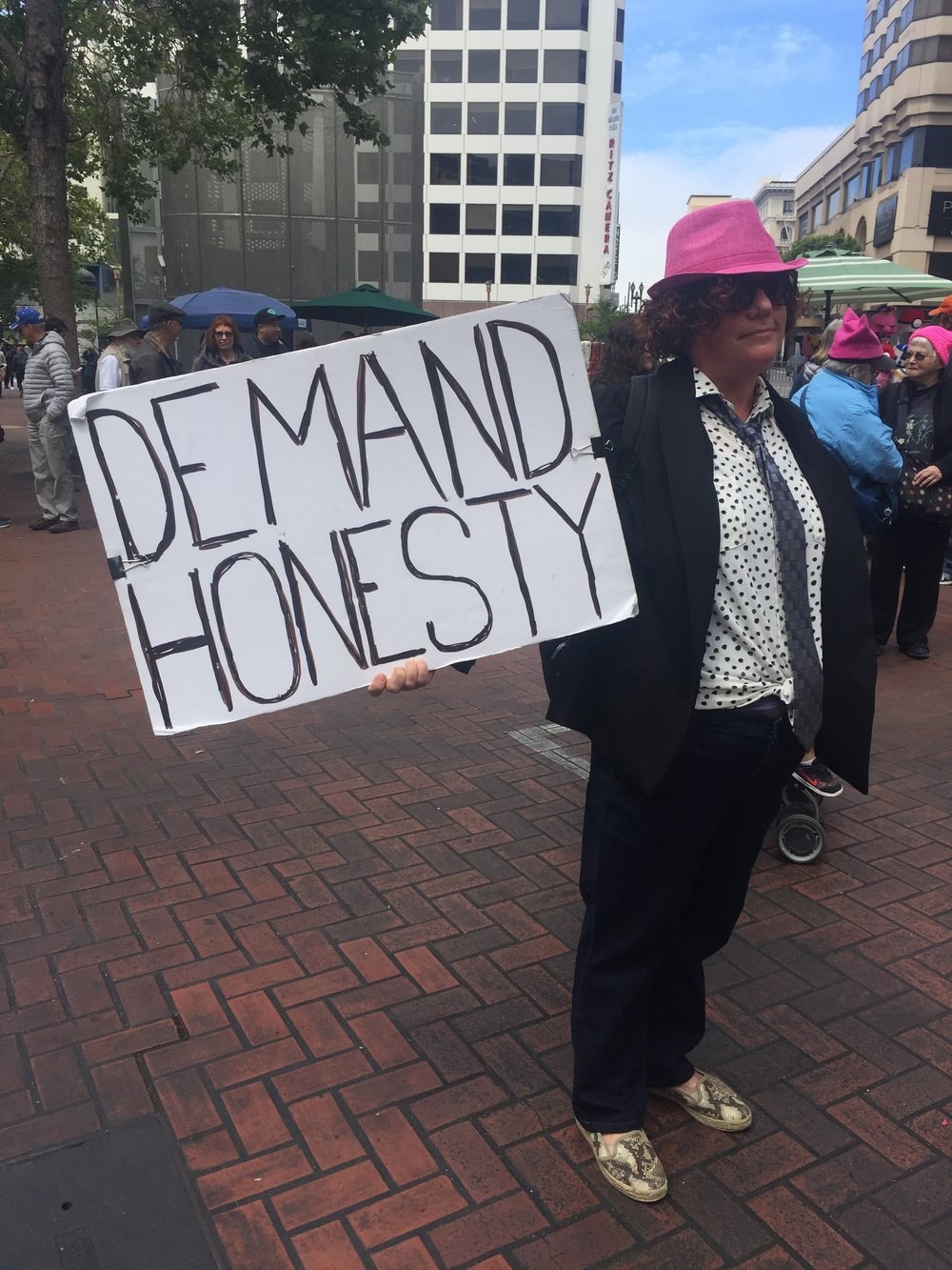 Gretchen Spieler, 53, protestor at San Francisco's March for Truth on June 3, 2017. Photo: Mary Finn