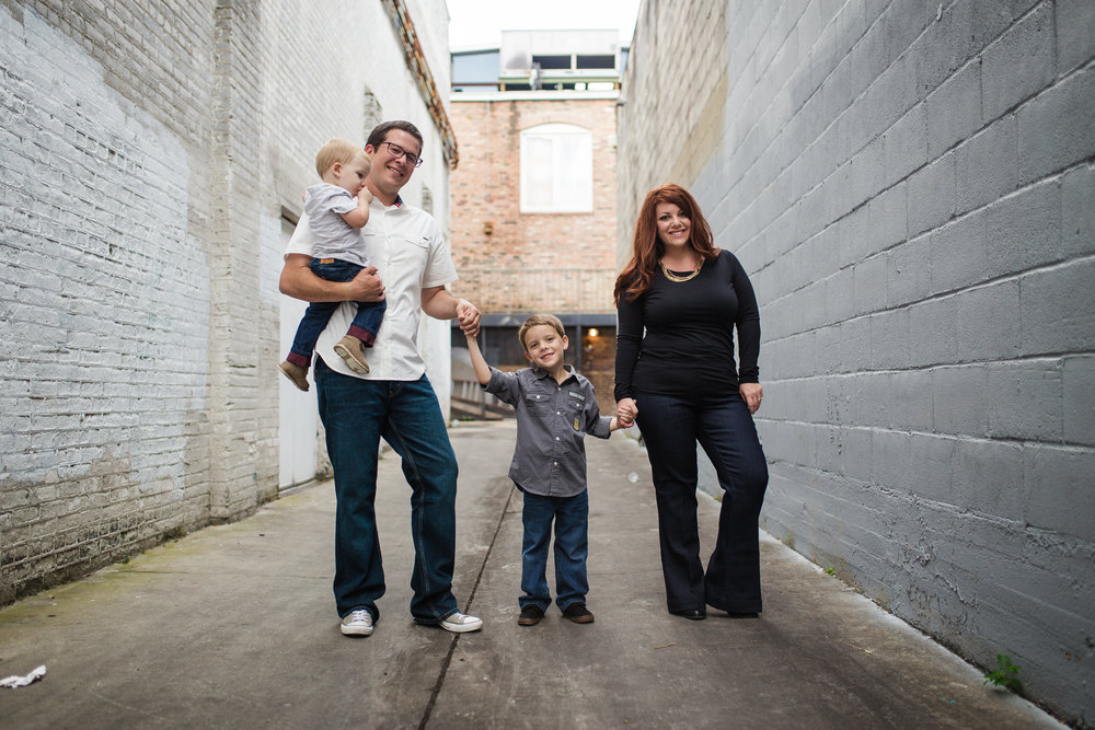 Ybor City Alley Family Picture holding hands