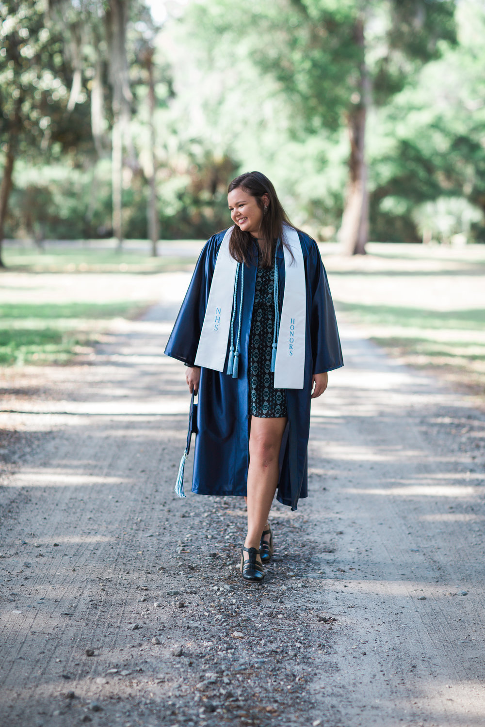 Richmond VA Senior Pictures Cap and Gown iat home