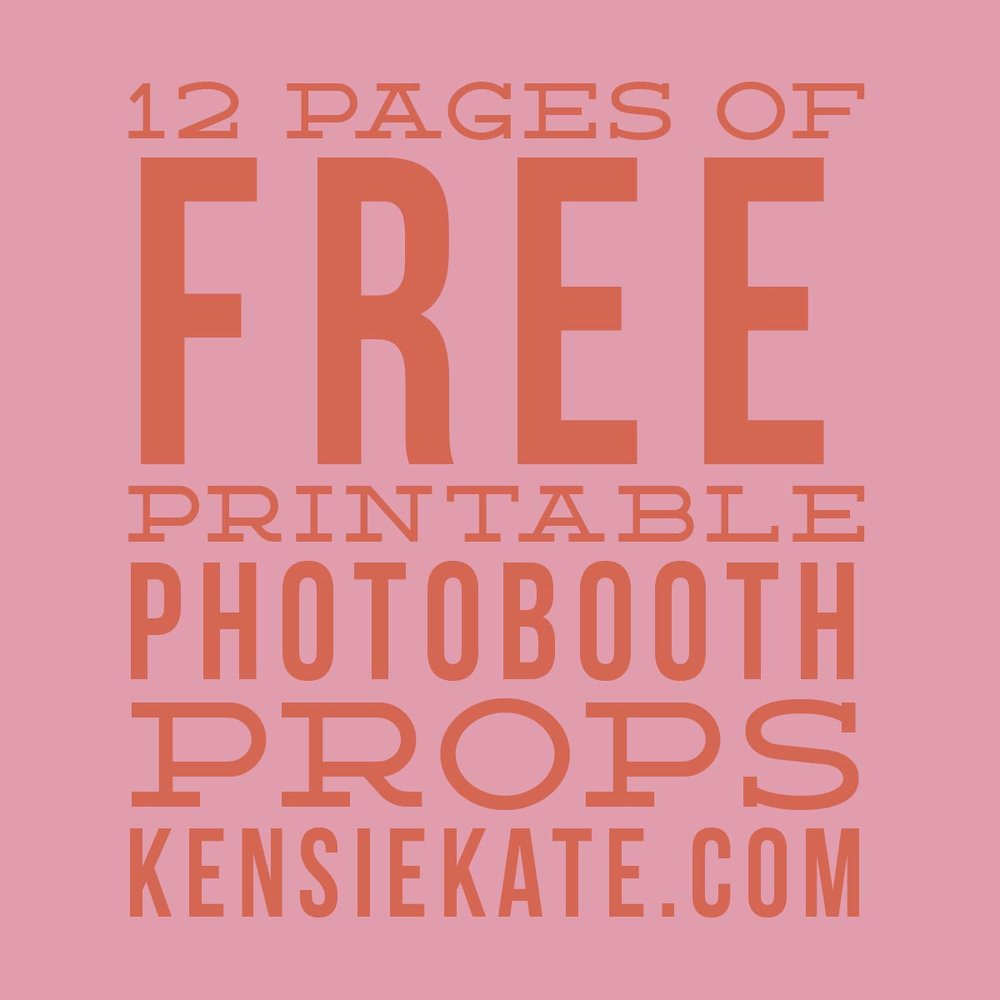picture about Free Printable Photo Booth Props Words known as 12 web pages of no cost printable photobooth props Kensie Kate