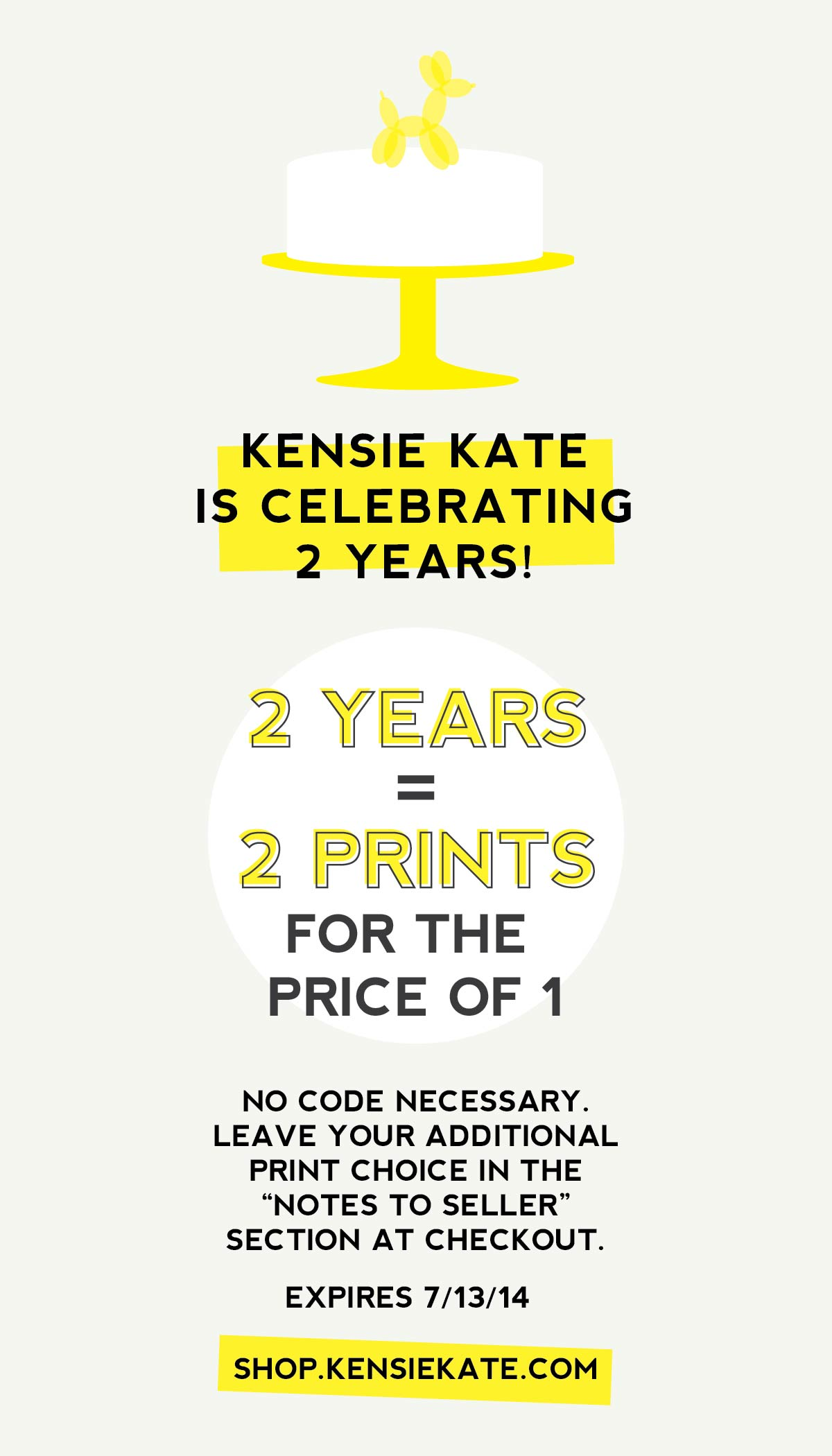 kensie kate 2 year anniversary sale | free print with every print you order through 7/13/14