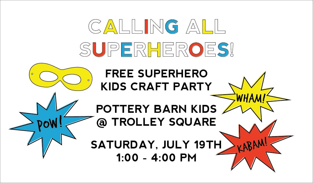 superhero event at pottery barn kids in salt lake
