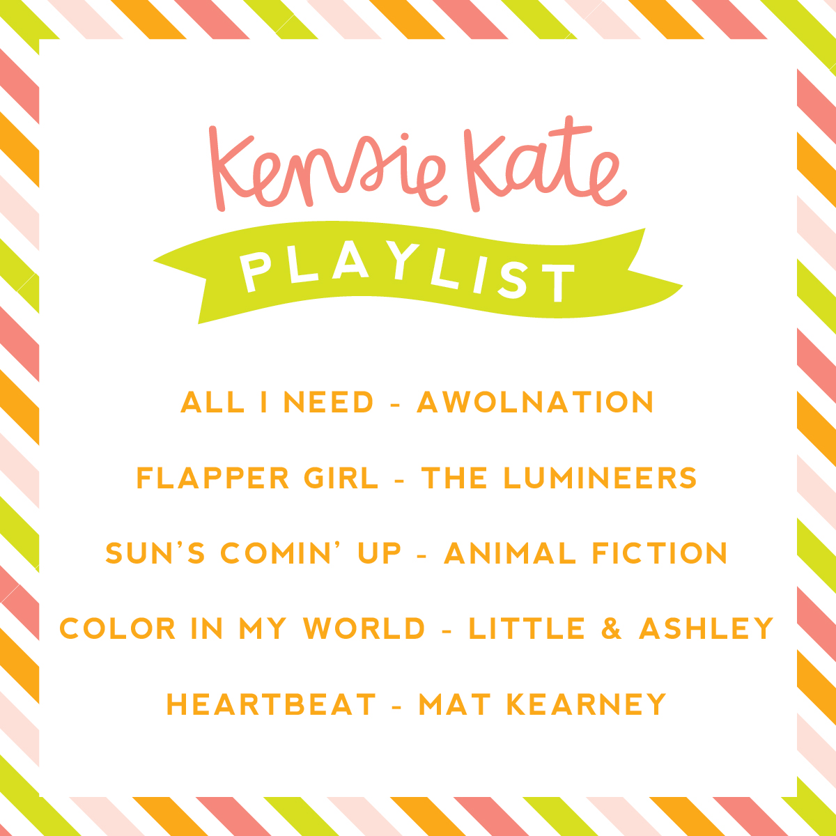 kensie kate playlist | click to listen