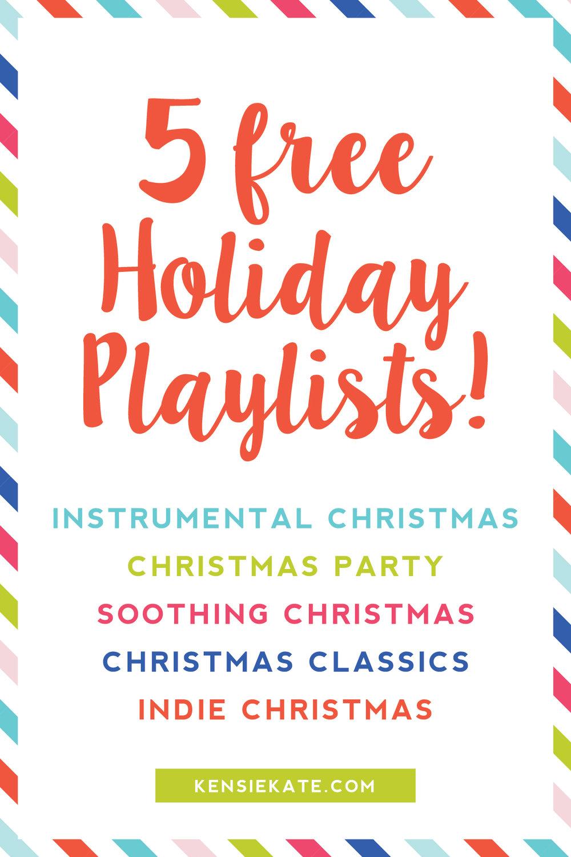5 free holiday playlists