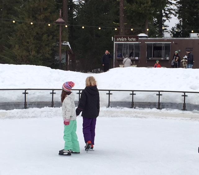 Ice Skating Among the Trees at Suncadia Resort