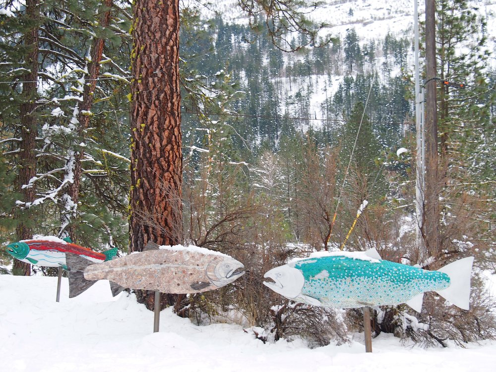 Salmon Sculptures