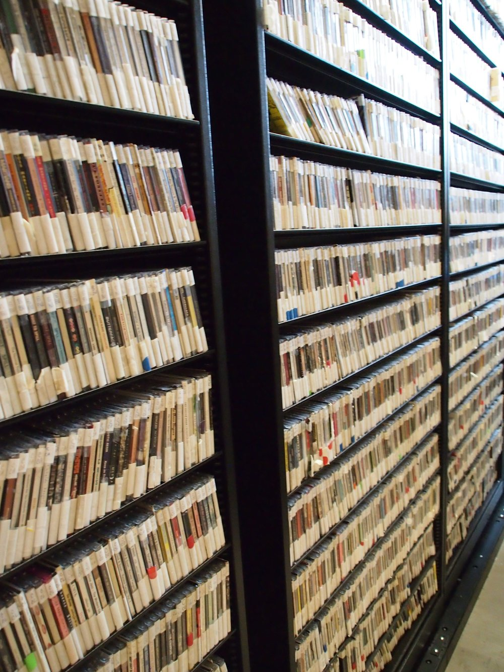 rows and rows of CDs