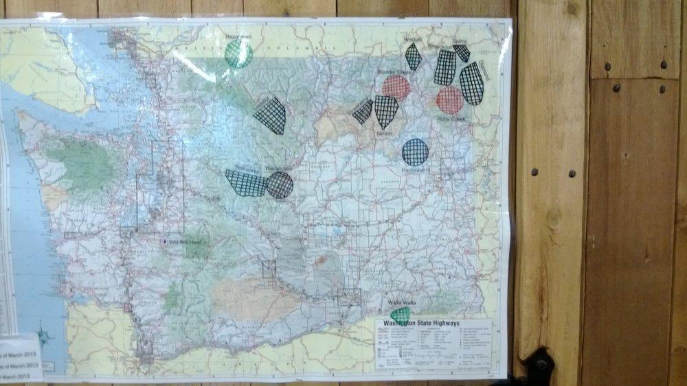 NW Treks: Map of Washington Wolf Packs
