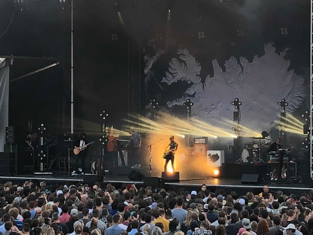 PNE Amphitheater Stage during a Kaleo show