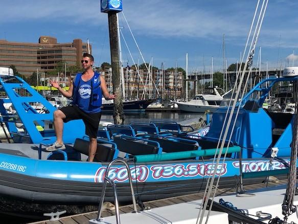 Zodiak Boat & Our Guide Darrell