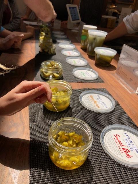Sample Pickles at Granville Market