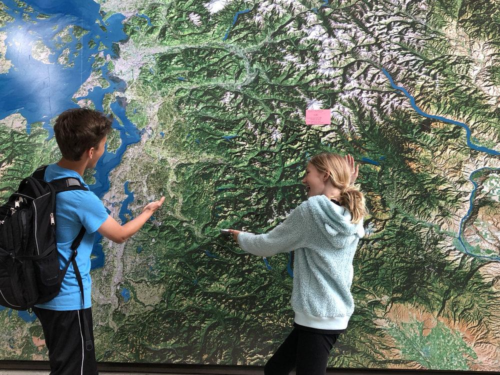 "Map of the ""Washington Alps"""