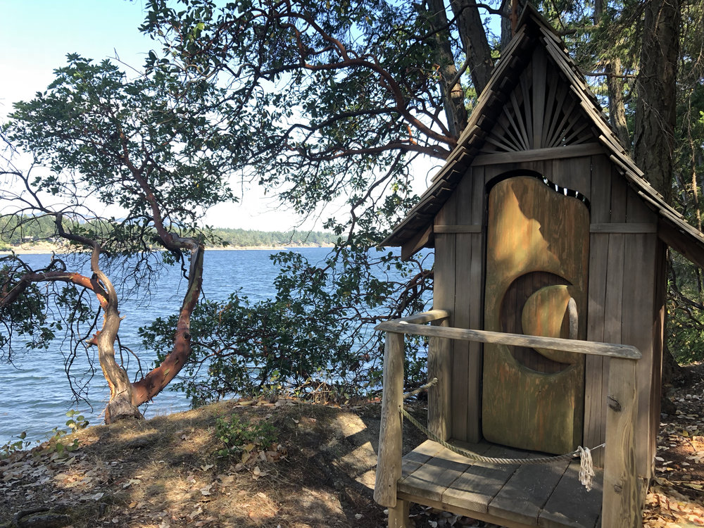 Perhaps the most beautifully sited outhouse in the world