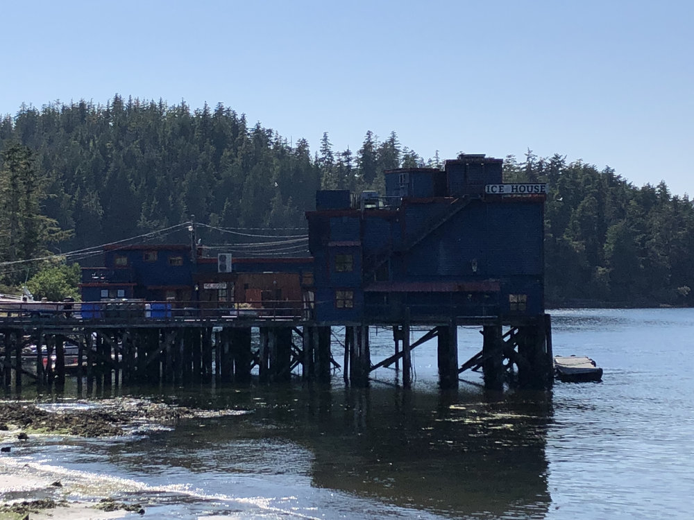 Icehouse sits on pilings over water