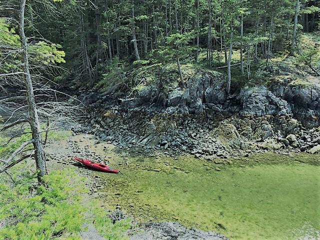 Kayak stop in Smuggler's Cove, BC