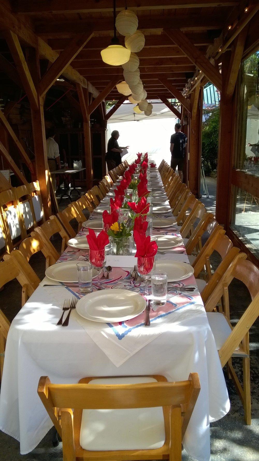 Red Rabbit Farm Dinner, Orcas Island, WA